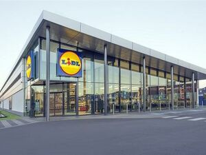 New commercial building leased to a large supermarket.