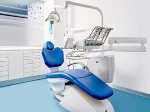 The premise rented to a dental clinic in the city of Gava.