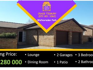 3 Bedroom Cluster For Sale in Willow Way - Weltevreden Park
