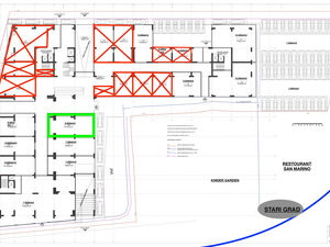 Commercial space on the ground floor L16; P=117.03 sq.m