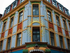 Unique Art Nouveau building for sale in Riga