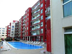 Pool view 1-bedroom apartment in Global Ville, Sunny Beach