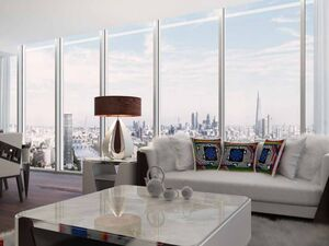 Apartments in an exclusive residential complex in London.