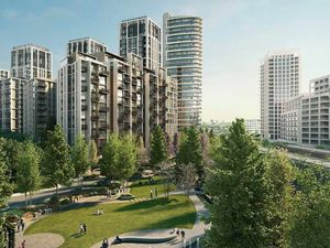 Apartments, in a new residential complex, in London.