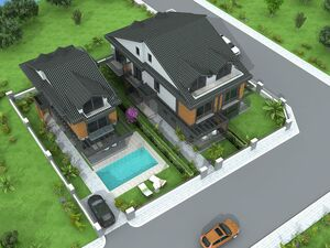 House in Fethiye with garden and swimming pool.