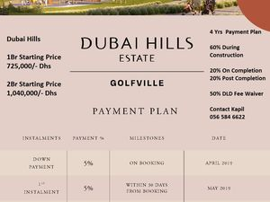 Dubai Hills Golfville 1 and 2br with post handover plan