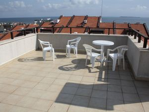 Pool view studio in Panorama Bay, St. Vlas, 100 m to the sea