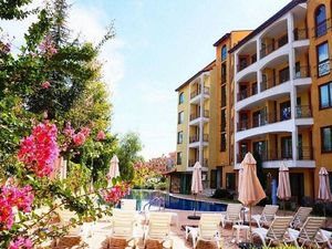 Studio apartment, 44 sq.m., with big balcony in Sunny Beach
