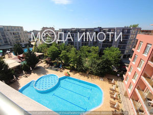 Spacious studio with a large balcony in Sunny Beach!