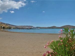One Bed Apartment in Elounda. Private Patio. 50m to the Sea