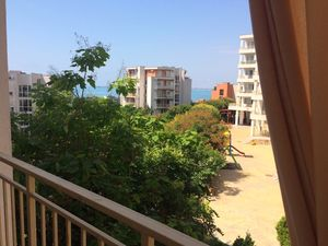 Sea View 1-bedroom apartment in Crown Fort Club, St Vlas
