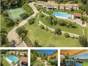 Villa with Sea View and Tennis Court in Mougins
