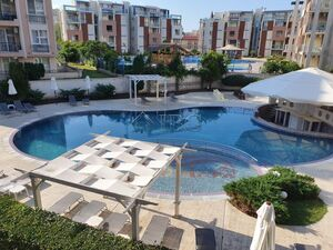 Studio with big balcony with pool view in Rainbow 3