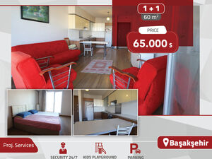 A FURNISHED 1+1 FLAT FOR SALE IN EUROPEAN ISTANBUL, TURKEY
