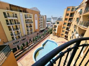 Pool view furnished 2-BR flat for sale Amadeus 3 Sunny beach