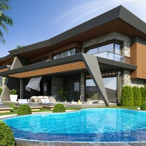Villa For Sale With Sea View,Jacuzzi,Gym And Turkish Bath