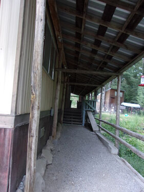 Walk way to front porch
