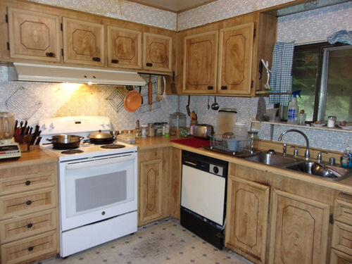 Stove and sink etc